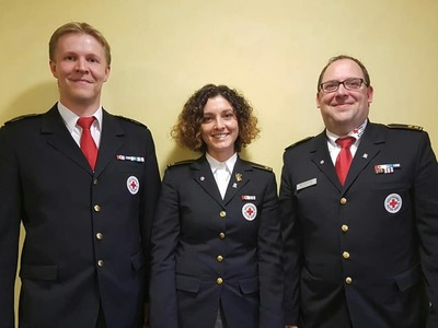Die drei Mitglieder der Kreisbereitschaftsleitung Starnberg.